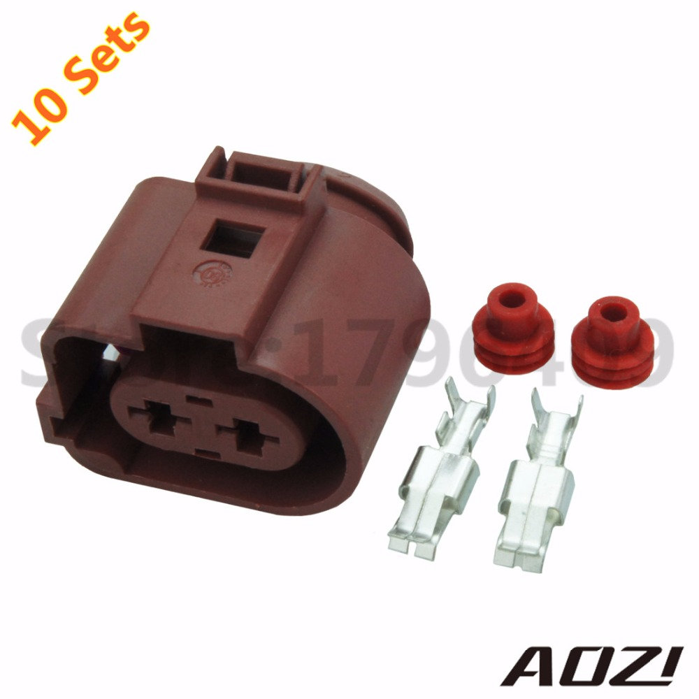 10 Sets High Current Female Plastic Connectors 2pins With 63 Gm Vehicle Wiring Pigtails 63series Terminals Waterproof For Car Parts New