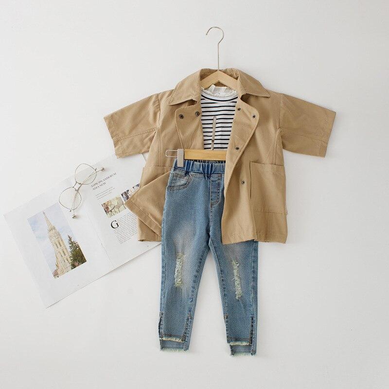 2018 Autumn Girls Jacket Coat Girls Khaki Outerwear Baby -3934