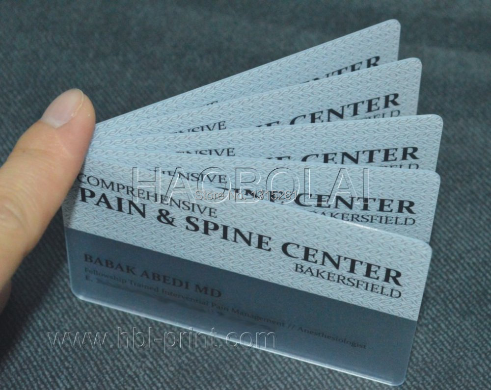 Clear frosted card creative translucent business card screen print ...