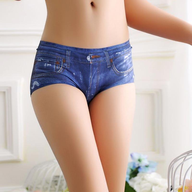 Women 3D Denim Number Printing Sexy Shorts New Fashion Soft Comfortable Female Black Elasticity Polyester Vintage Shorts PJ93
