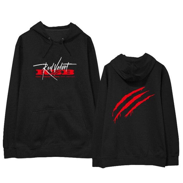 805c23221bc Kpop Red Velvet RBB Streetwear Chic Loose Hoodies Hooded Friends Sweatshirt  Women Men Harajuku Plus Size Korean Sweat Clothes