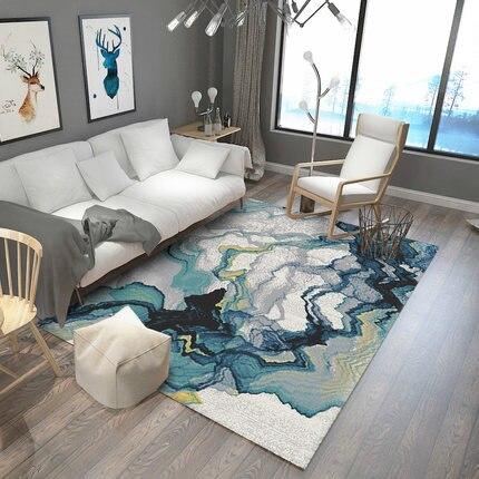 Nordic Geometry Carpet Modern Minimalist Living Room Coffee Table Bedroom Bedding Blanket Home Rectangular Mats