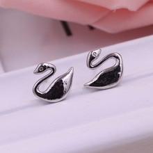 Free shipping jewelry earrings Han edition classic cygnet women silver earrings The little swan earrings The jewelry earring