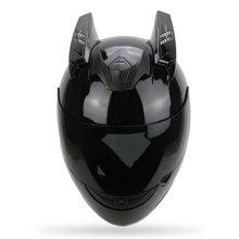 c4e59587d2c Casco de motocicleta cuernos estilo Punk Scooter motocicleta casco cuerno  Moto accesorios para KTM AGV ICOM