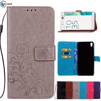 Flip para Sony Xperia XA Ultra XAUltra F3211 cartera caja teléfono PU cubierta de cuero Coque para Sony Xperia C6 f3212 F3213 Capa bolsa