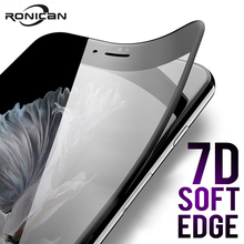 7D Full Cover Curved Soft Edge Tempered Glass For iPhone 6 6S 7 8 Plus X Screen Protector For iPhone 8 7 6 6S X XS Cover Glass