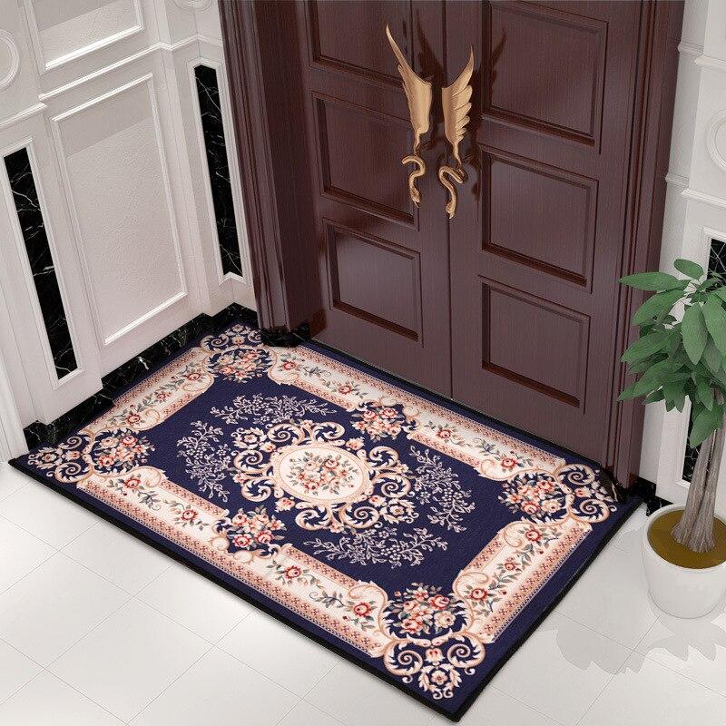 European Vintage Jacquard Floor Carpet Non-slip Carpet Multi-size Decoration Water Absorption Fabric Floor Mat Room Carpe