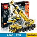 2606 unids técnica control remoto grúa móvil mk ii 20004 kit 3d modelo de construcción bloques niños juguetes compatibles con lego