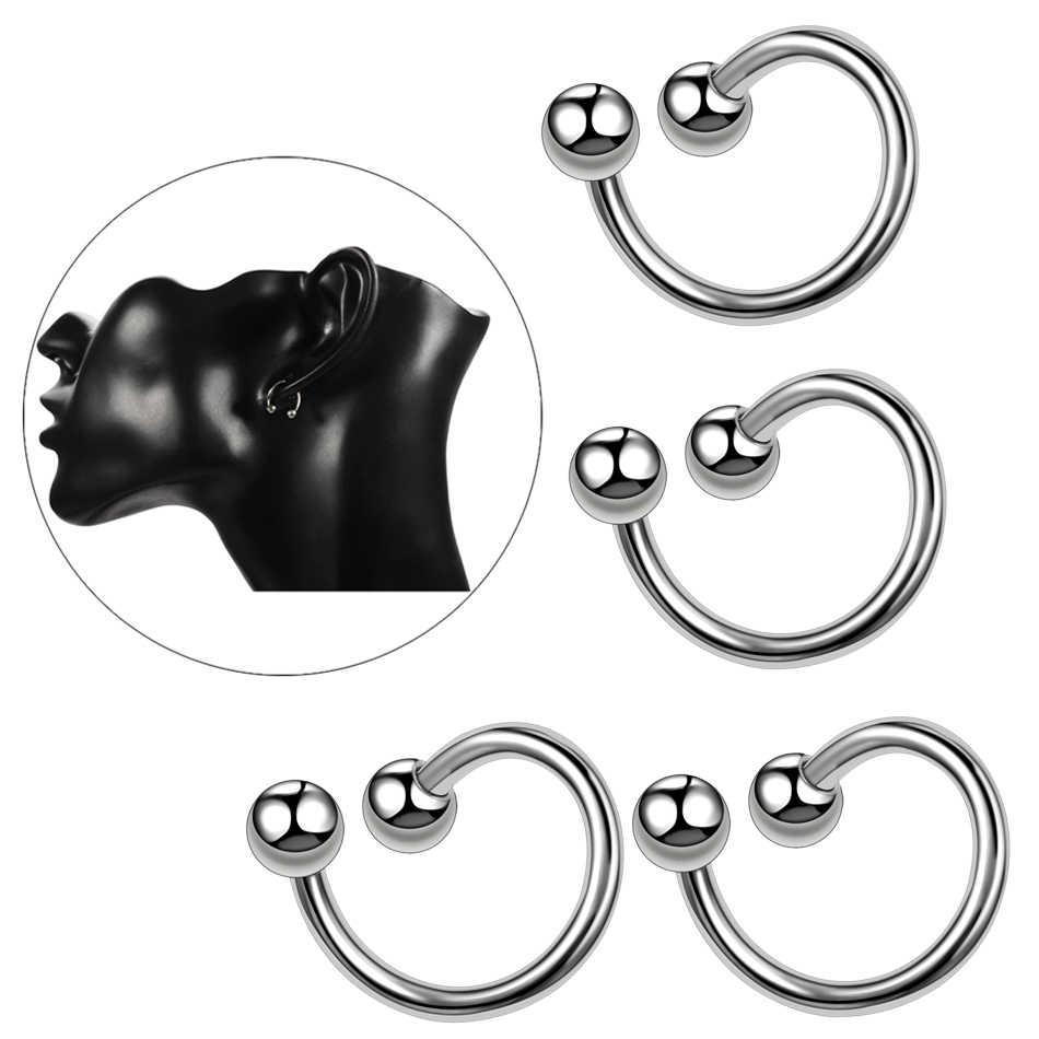 1PC G23 Titanium Eyebrow Rings S Shape Nose Lip Rings Twist Spiral Ear Cartilage Tragus Piercing For Navel Rings Fashion Jewelry