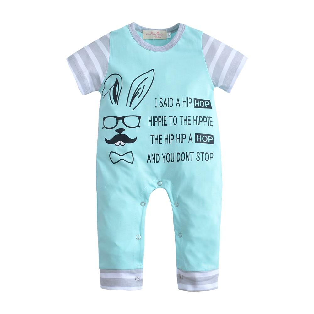 2018 Bébé Barboteuses Nouveau-Né Bébé Vêtements Salopette Infantile lapin Imprimé Prochaine Corps Bébé Custome D'été Porter Ensemble