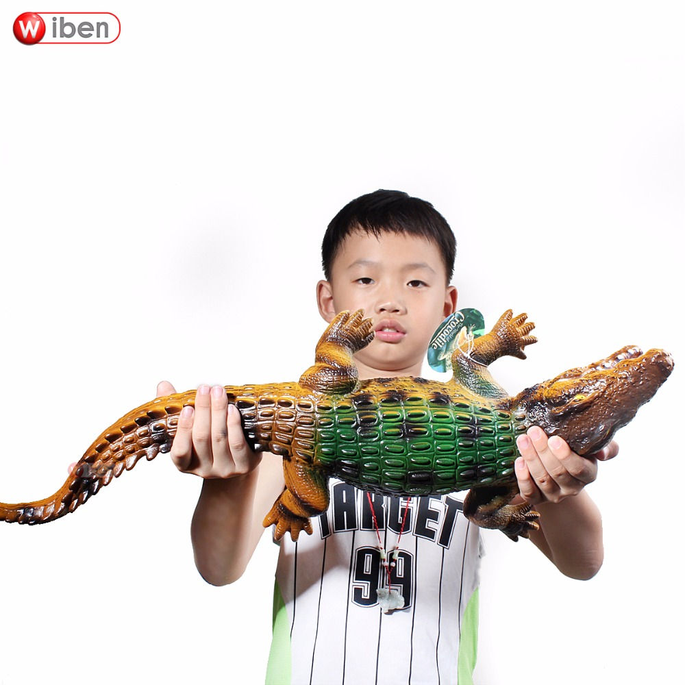 Wiben Hot Sell Big Crocodile Simulation Animal Model Action & Toy Figures Soft Plastic Gift for Kids цена
