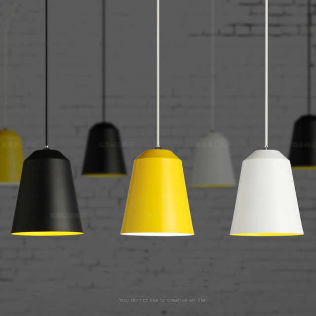 Pendelleuchte Gelb 2015 modern hanging pendant l black white yellow color not