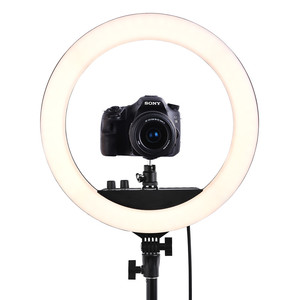 """Image 4 - fosoto RL 12II 14"""" Dimmable Photography light Led Ring Light Bi color 3200 5600K 240 led Ring Lamp For Camera Photo Studio Phone"""