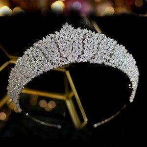 Image 3 - ASNORA Cổ Điển CZ Đính Đá Cubic Zirconia Cưới cô dâu Mũ Đội Đầu Thái Đầu nữ Dự Tiệc Phụ Kiện Trang Sức