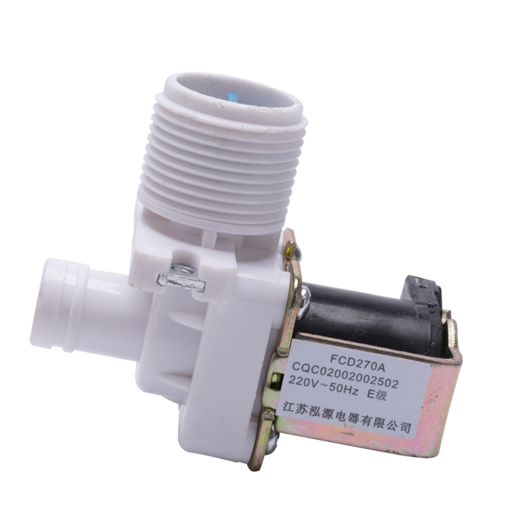 durable common parts washing machine single inlet valve FCD270A plastic inlet solenoid valve for laundry appliance parts