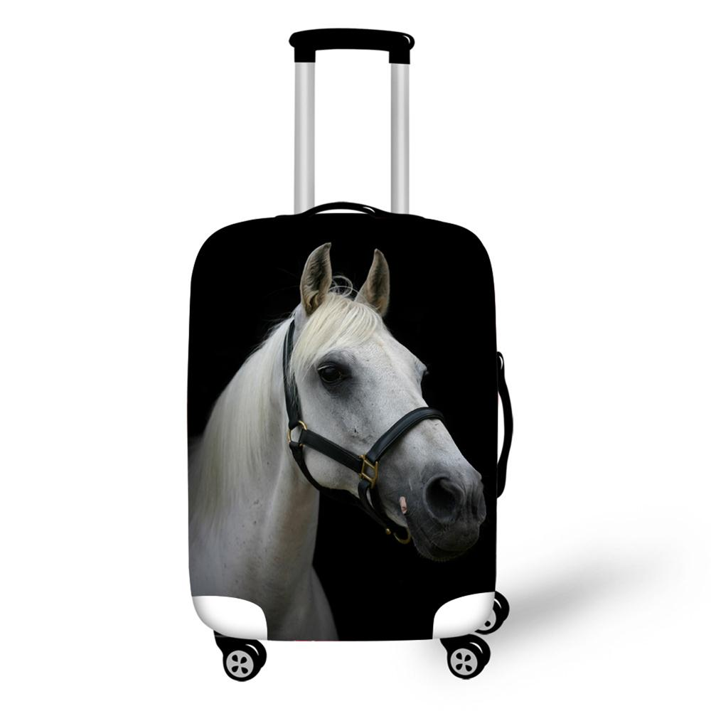 Luggage Case Cover Travel Accessories Elastic Waterproof Suitcase Protective Covers Horse Printing Case For 18-30 Inch Suitcase