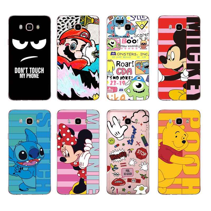 การ์ตูนน่ารัก Minnie Mickey mary Soft TPU โทรศัพท์สำหรับ Samsung A5 J3 J5 J7 J1 J2 S6 S7 s8 S8plus note8 c5 c7 c9 S9 c073