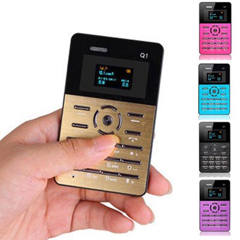 bilder für 10 teile/los Neue AEKU Q1 Farbdisplay Kreditkarte Telefon Tf-karte Quad Band Low Radiation Kinder Studenten Mobile telefon