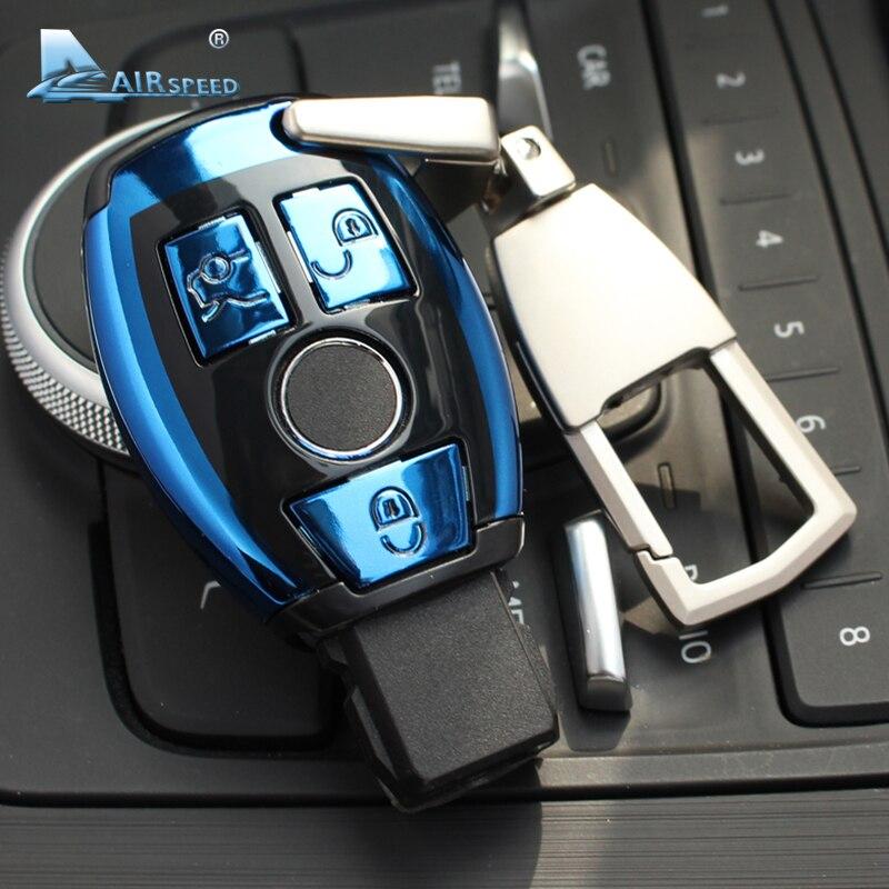 Velocidade ABS Tampa Do Caso Remoto Chave Shell Chave Do Carro para Mercedes Benz C W205 Classe E W212 classe A B S GLC GLA GLK Carro Acessórios Do Carro