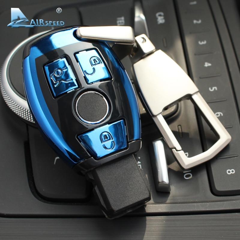 Vitesse ABS Voiture À Distance Clé Shell Key Case Cover pour Mercedes Benz C classe W205 Classe E W212 Un B S GLC GLA GLK Voiture Accessoires
