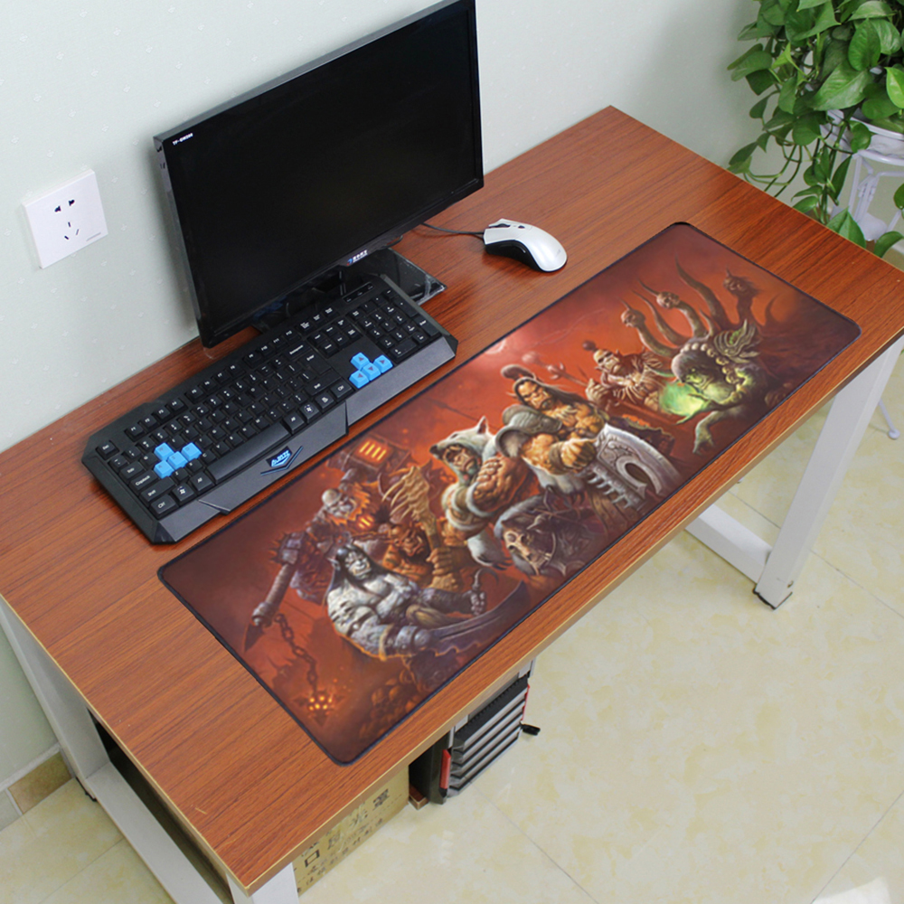 900x300mm Large Size Gaming Mouse Pad Laptop Tablets Mouse Mats Locking Edge Notebook Mechanical Keyboard Mouse