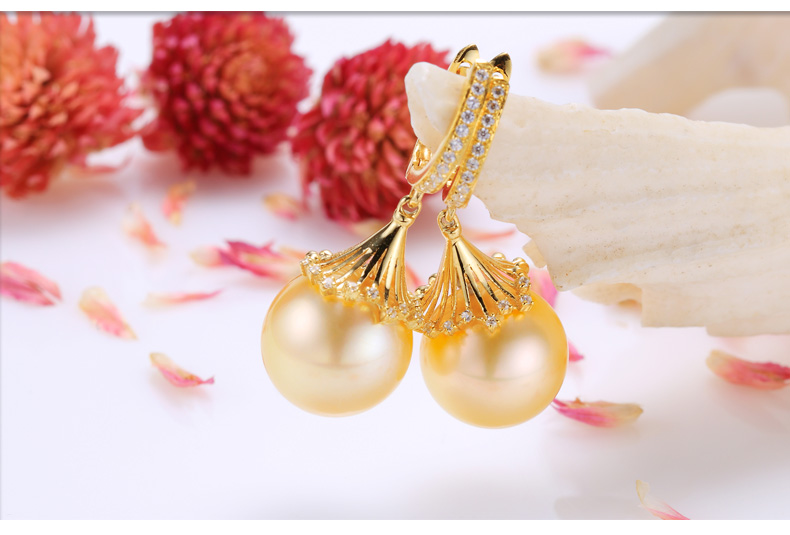 southsea pearls gold earrings 44
