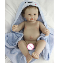 Shower Doll 17inch Full Silicone Reborn Doll 45cm BeBe Reborn Lifelike Girl Baby Newborn Realistic Babies Doll Toy Brinquedos 23 newborn dolls baby toy realistic full body silicone reborn babies girl doll can bathe babies doll twins bebe brinquedo gift