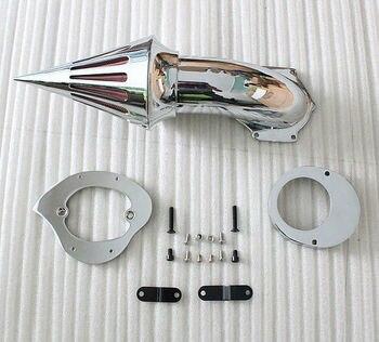 Motorcycle Chrome Spike Air Cleaner Kits Intake Filter For Yamaha V-Star 650 (All Years) 1982-2012 VStar 650 VStar650