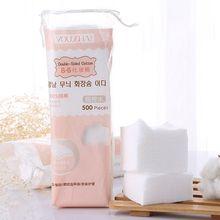500 шт./пакет тонкой кожи лица нетканый макияж Ватные диски лак для ногтей салфетки для удаления