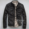 Goat Leather Jackets Men Gram Fat Wallet XL No. Rock Motorcycle Clothing