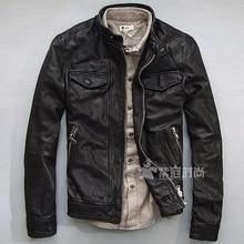 Goat Leather Jackets Men Gram Fat Wallet XL No. Rock Motorcycle Clothing