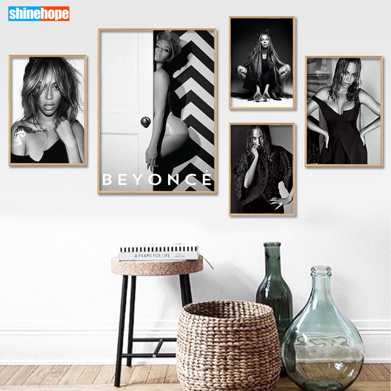 Custom Beyonce Poster Canvas Poster 30X45cm,40X60cm Art Home Decoration Cloth Fabric Wall Poster Print Silk Fabric