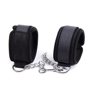 Image 1 - Soft Sponge With Metal Chain Sex Handcuffs Restraints Bdsm Bondage Slave Sex Toys for Couple Handcuff & Ankle Cuff