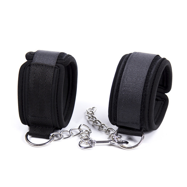Soft Sponge With Metal Chain Sex Handcuffs Restraints Bdsm Bondage Slave Sex Toys for Couple Handcuff & Ankle Cuff