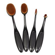 4pcs Bkack Oval Brush Set Toothbrush Makeup Brushes Tools Multipurpose Face Foundation Cosmetic Brushes Beauty Essential