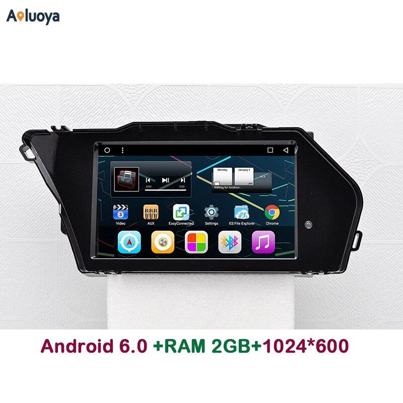Aoluoya 2 GB RAM Android 6.0 DVD de VOITURE Radio GPS Navigation POUR Mercedes Benz GLK X204 2013 2014 2015 2016 Audio vidéo lecteur WIFI