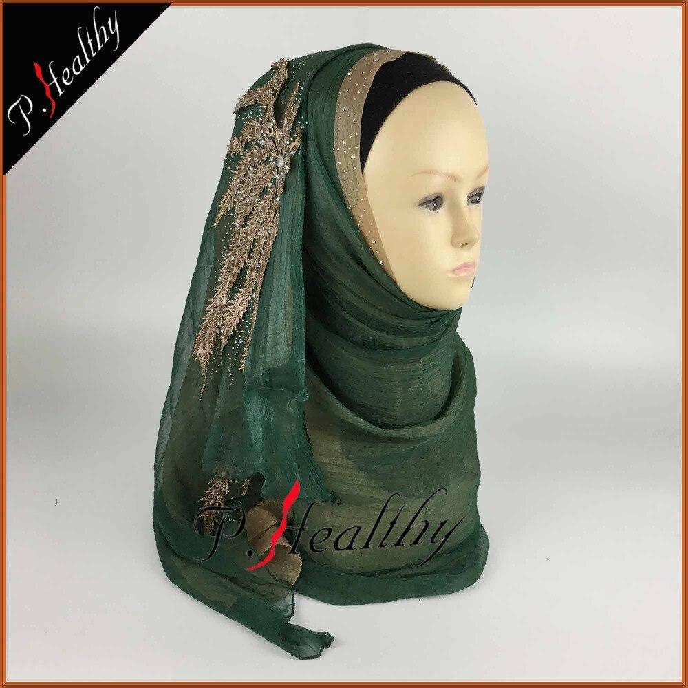 Свадебный хиджаб платок головной убор одежда модная свадебная шаль шарфы Муслин, можно выбрать Цвета, phw001