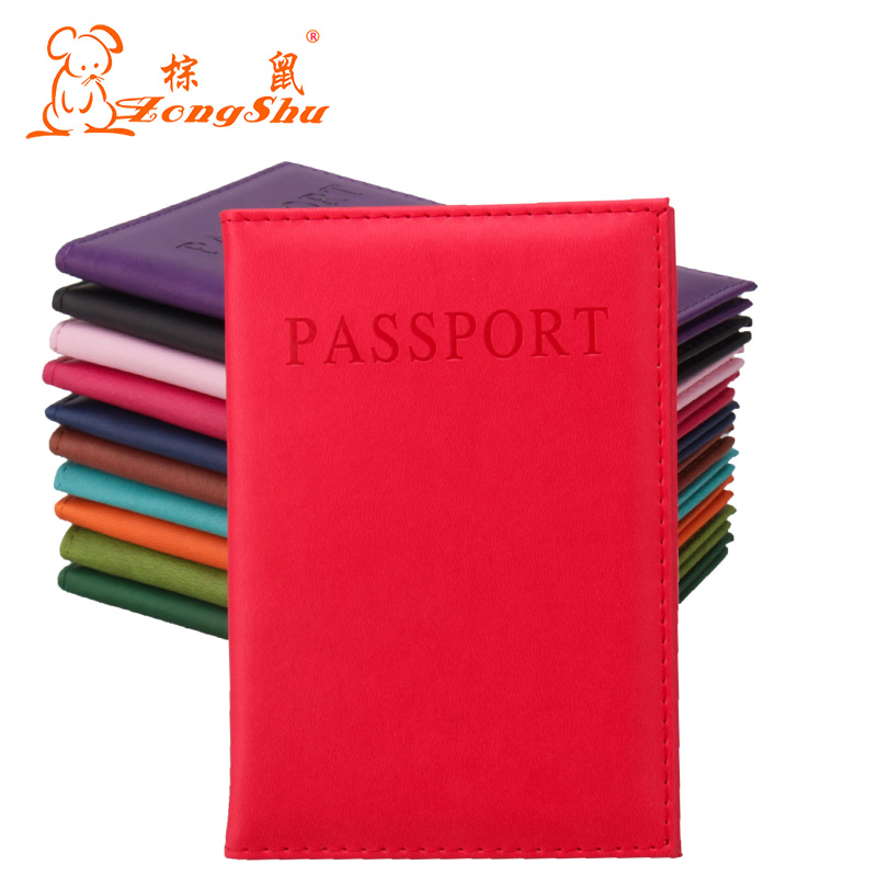 Candy color PU Leather Wallet card holder Travel Passport Holder Cover ID Card Bag passport cover (Custom available) temena travel passport cover wallet travelus waterproof credit card package id holder storage organizer clutch money bag aph113
