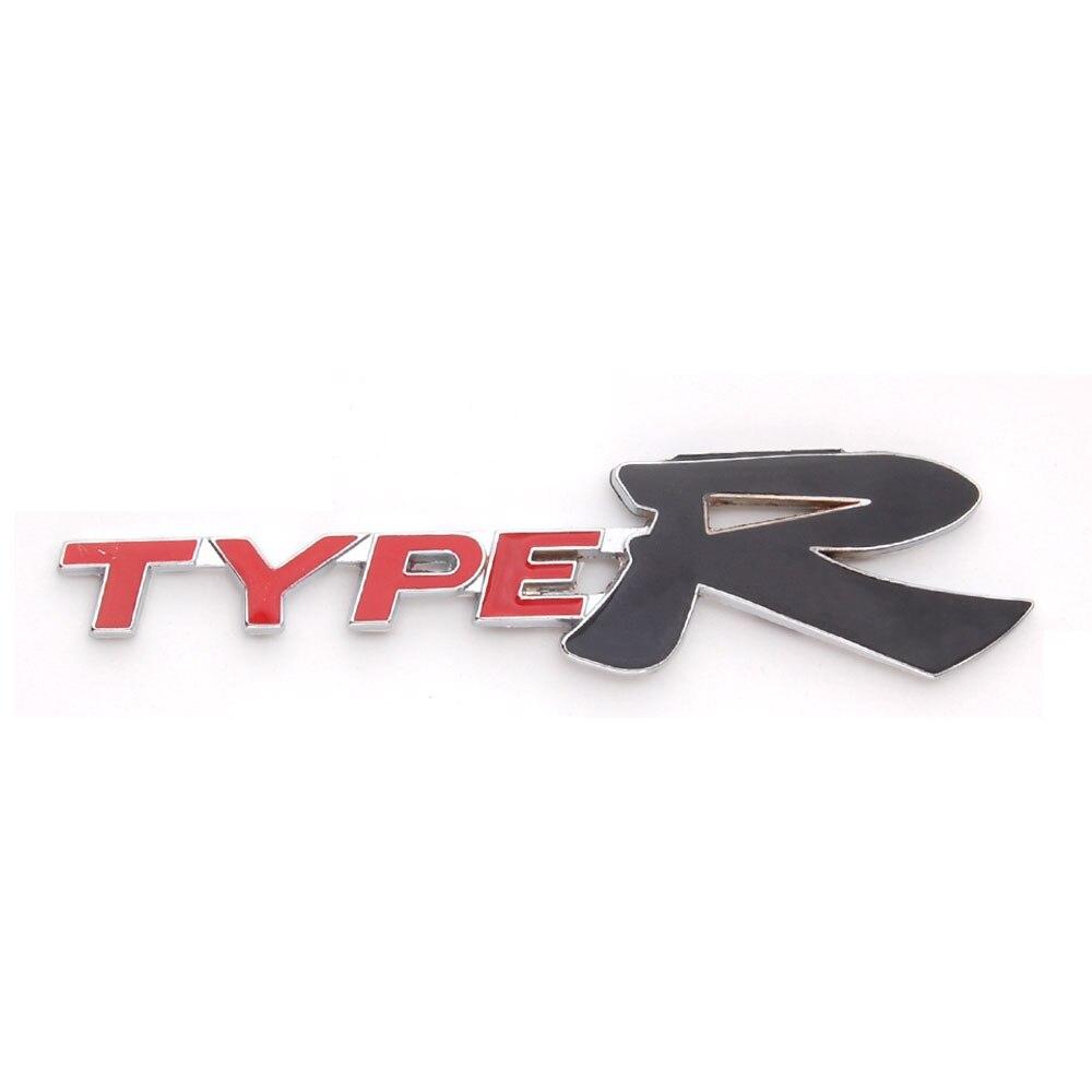 Honda fit car sticker design - Metal Auto Red Black Type R Typer Emblem Badge Decal Sticker Fit For Honda