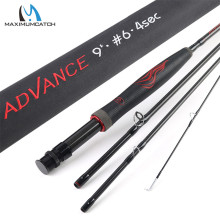 Maximumcatch Advance 5/6/8wt 9FT Fly Fishing Rod Super Light Fast Action Flexible Resins Handle Fly Rod with Cordura Tube недорого