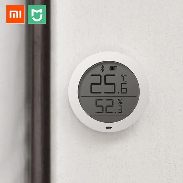 Xiaomi Mijia Bluetooth Hygrothermograph de alta sensibilidad del higrómetro del termómetro LCD de pantalla inteligente inicio temperatura y Sensor de humedad