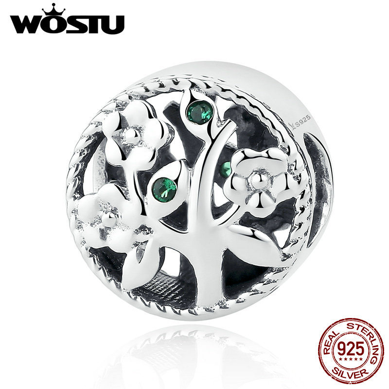 Hot Fashion 100% 925 Sterling Silver Tree Of Life Charm Beads Fit Original WST Bracelet Bangle Authentic Fine Jewelry