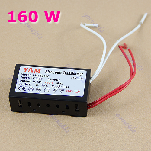 160W 220V Halogen Light LED Driver Power Supply Converter Electronic Transformer