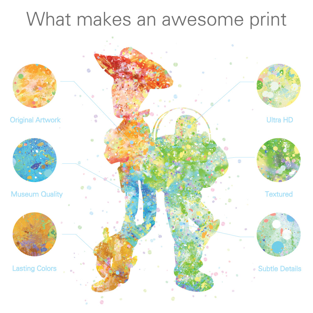 Original Watercolor Bird Animals Poster Prints Abstract Pictures ...