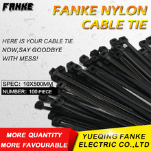 quality 10*500mm black ties