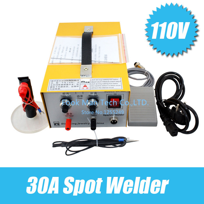 Jewelry Making Tools 30A Electric Sparkle Welder Mini Spot Welder Jewelry Welding Machine