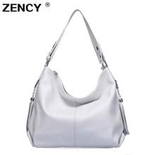 ZENCY 100% Genuine Leather Women Handbag First Layer Cow Lea