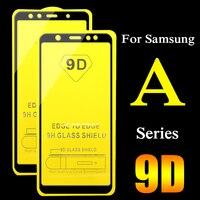 Protector de pantalla de cristal templado para Samsung Galaxy, protector de pantalla de cristal templado 9D para Samsung Galaxy A6 A7 A8 2018 Plus A3 A5 2017 A 5 6 7 8, 2 uds.
