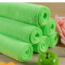 Sofas and chairs cleaning cloth 30*40cm green towel Rag microfiber without detergent By SGS certificate kitchen