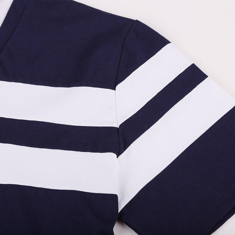 Image 5 - 10XL 8XL 6XL 2018 marque de mode rayé hommes Polo chemise à manches courtes Polo hommes chemise décontracté t shirts vêtements masculins-in Polo from Vêtements homme on AliExpress